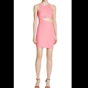 Likely Lincoln Cut Out Sheath Dress Pink Size 4